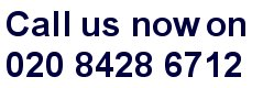 call us now on 020 8428 6712